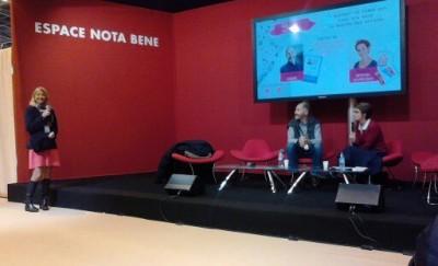 Christophe André et Florence Servan-Schreiber au Salon du livre de Paris