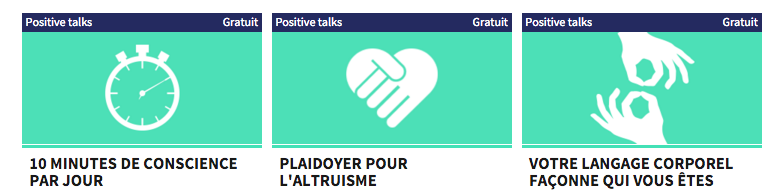 Des talks de psychologie positive