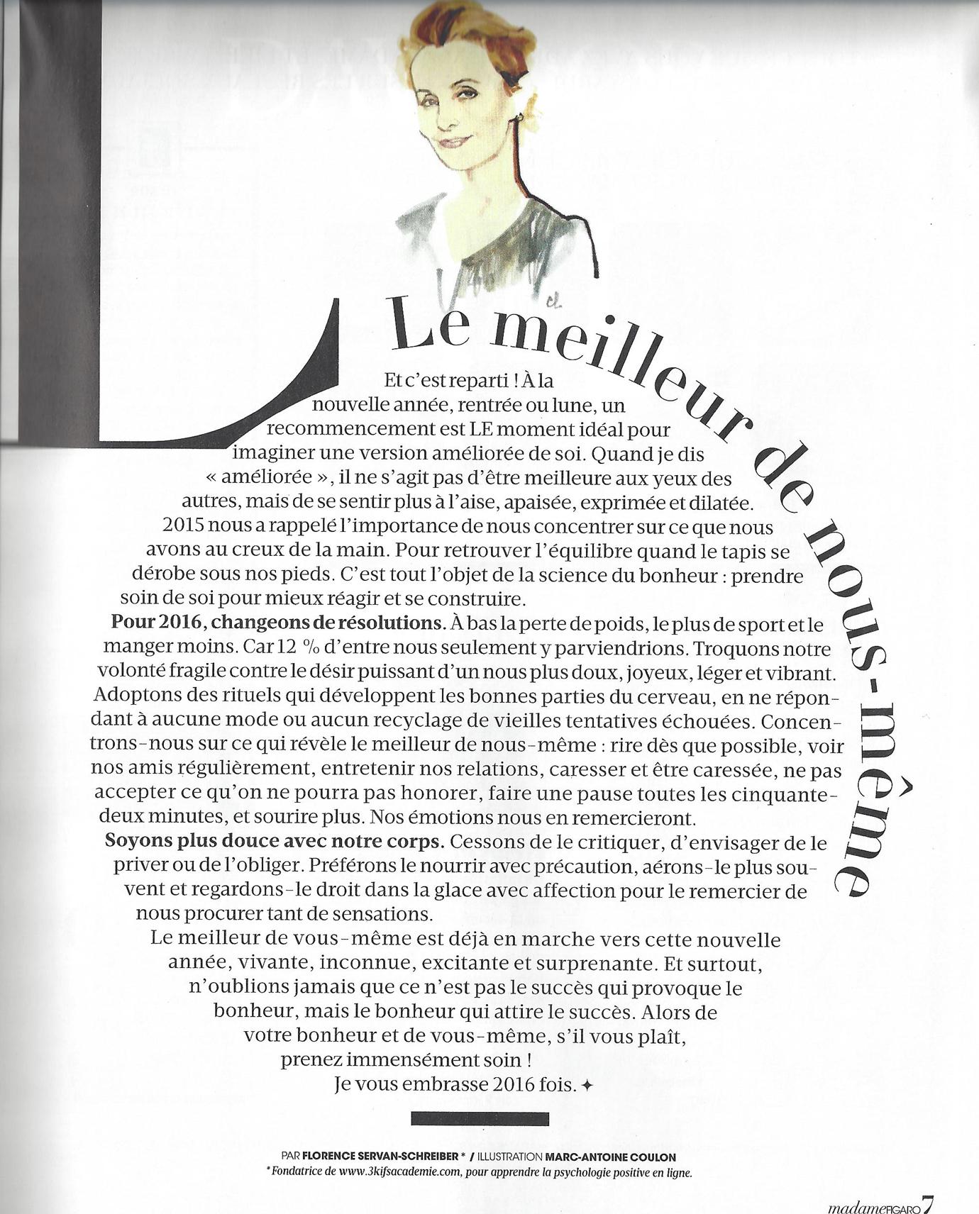 Edito Figaro Madame 2016