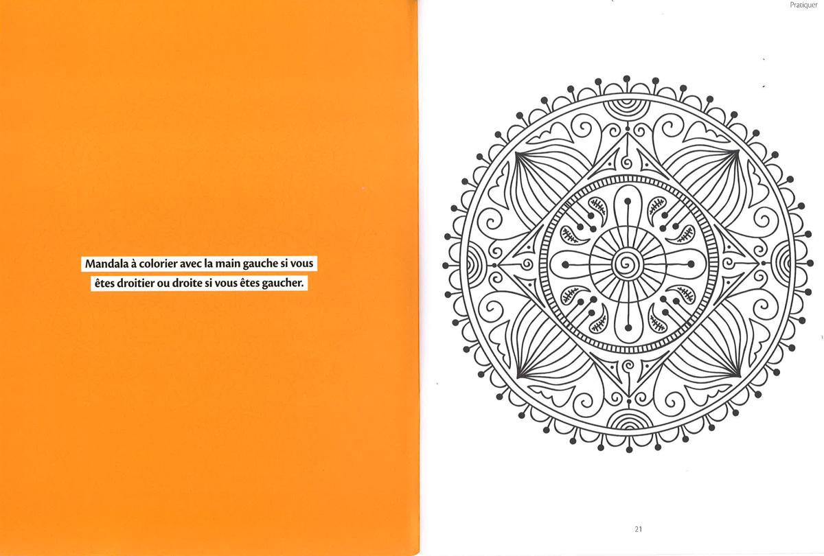 Mandala à télécharger extrait du hors série 25 mandalas à colorier