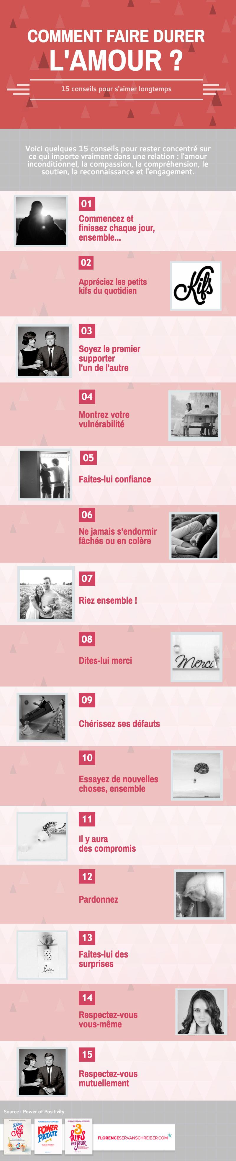 15 conseils pour s'aimer longtemps