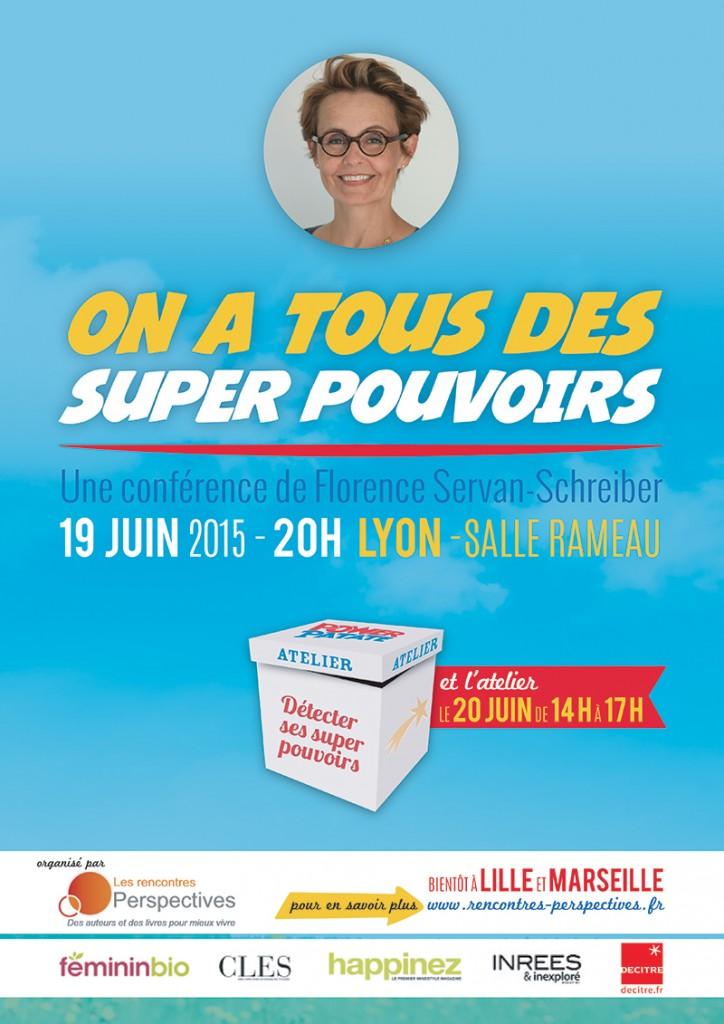 Affiche du Power Patate Tour avec Florence Servan-Schreiber