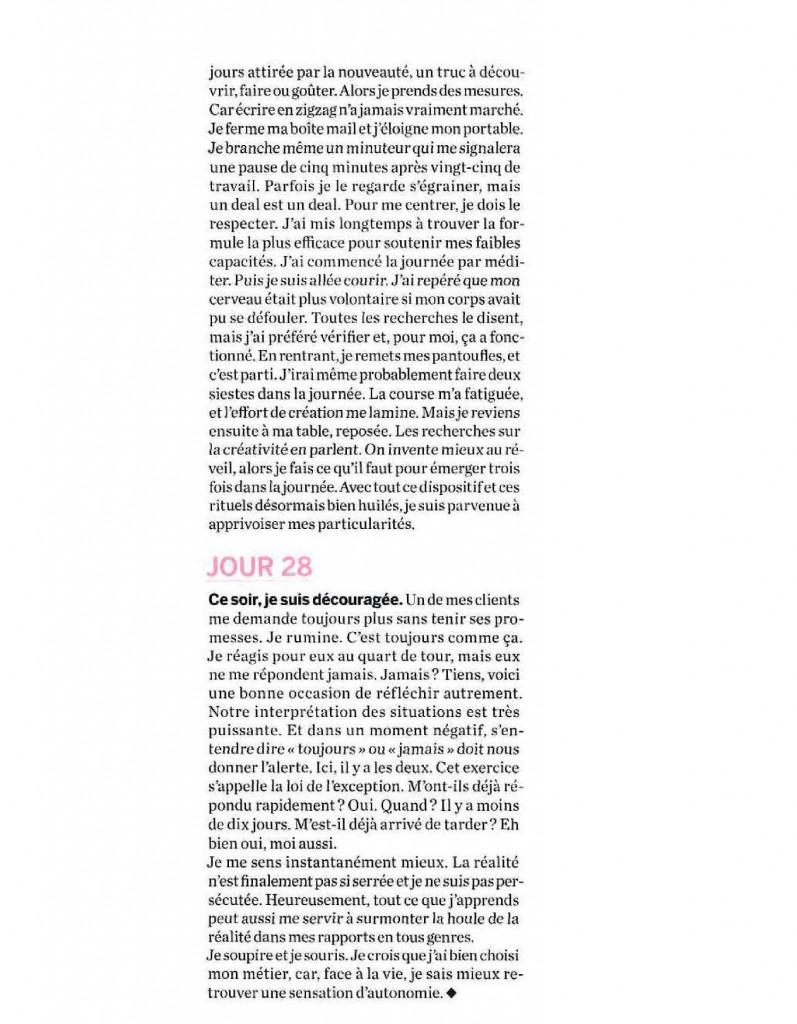 Article de Florence Servan-Schreiber dans le Hors Série Psychologies Magazine