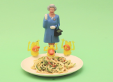 Voici la recette des Spaghettis de courgettes aux cacahuètes.