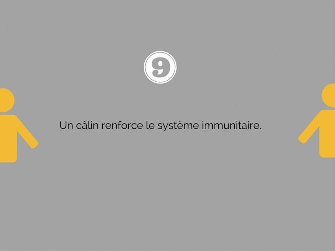 Le câlin renforce le système immunitaire