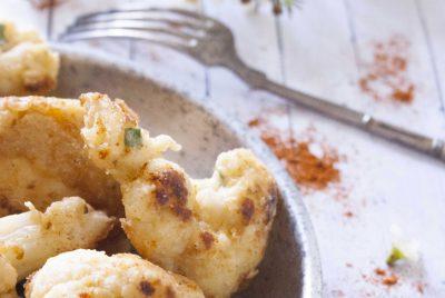 La recette de Beignets de chou fleur aux épices orientales et à la coriandre