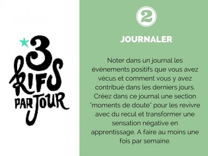 Journaler - Diaporama 10 exercices pour développer votre Optimisme