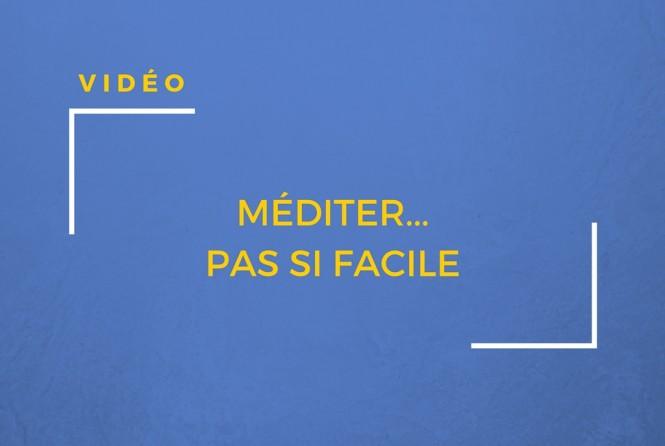 Une vidéo amusante et décalée sur la méditation