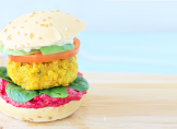 Veggie burger aux lentilles corail