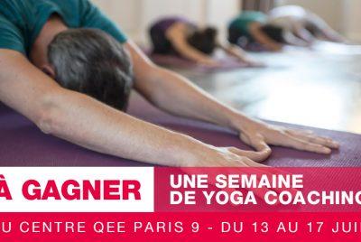 Concours Qee : gagnez une semaine de Yoga Coaching