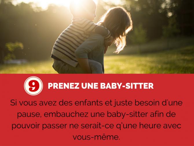 Prendre une baby-sitter