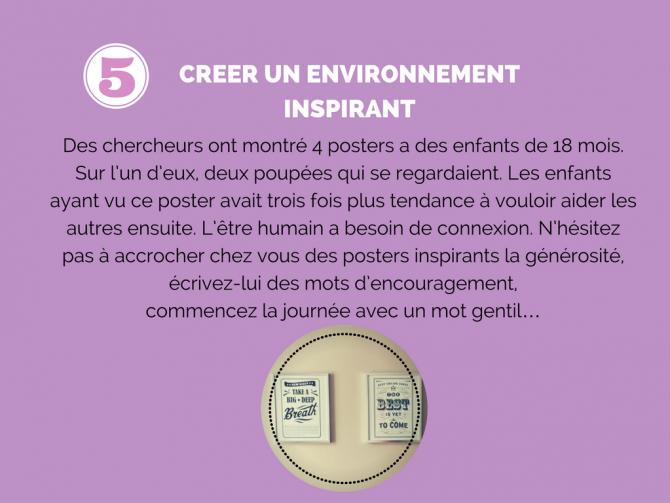 5) Créer un environnement inspirant