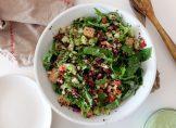 La super recette de la salade au quinoa, mais et haricots rouges de Potiron et coriandre