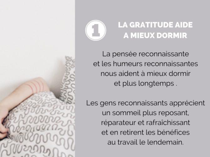La gratitude aide à mieux dormir