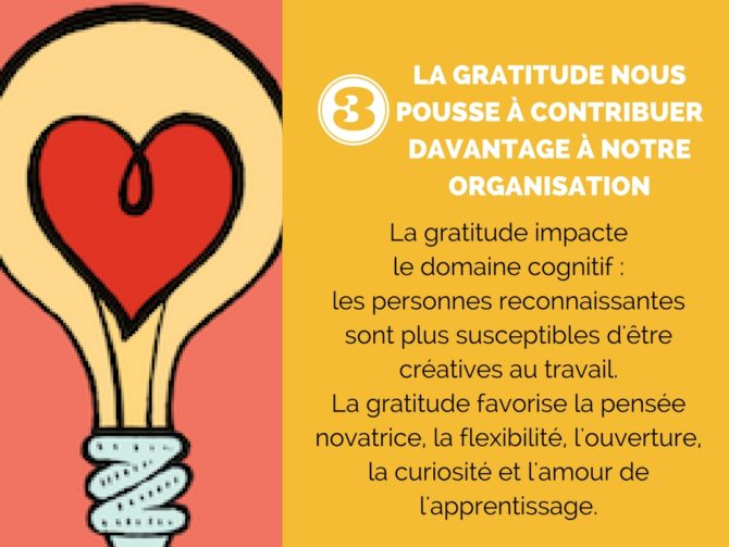 La gratitude pousse à contribuer davantage à notre organisation