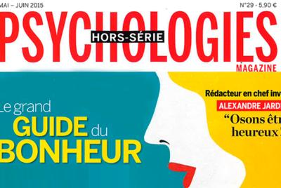 Article de Florence Servan-Schreiber dans le hors-série de PSychologies Magazine sur le bonheure