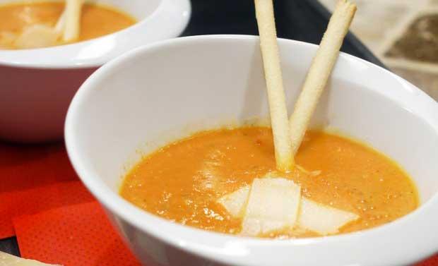 Recette du velouté de tomates de Bavardages Gourmands